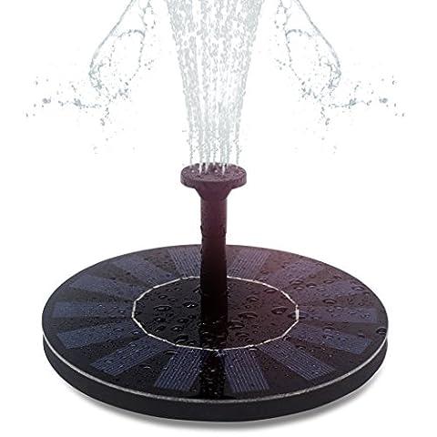 Hiluckey Fontaine solaire - Pompe à eau solaire Exécute automatiquement