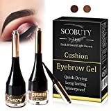 Augenbrauen Gel, Brow Tattoo, Eyebrow Gel, Wasserfest Augenbrauen Farben Gel Mit Pinsel Set, Anti-Discoloration Eyebrow Gel,Tattoo Brow Augenbrauenfarbe, Wasserdicht, Wischfest