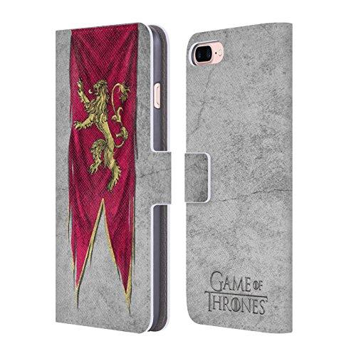 Offizielle HBO Game Of Thrones Targaryen Sigil Flags Brieftasche Handyhülle aus Leder für Apple iPhone 6 Plus / 6s Plus Lannister