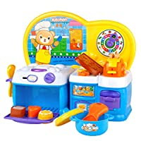 Symiu Toy Kitchen Cooking Play Sets for Kids Play Kitchen Accessories Pretend Play Toy Game Role Play Girls Boys 3 Years Old