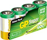 GP Battery 03013AS4 Super Alkaline D Mono 4er Pack