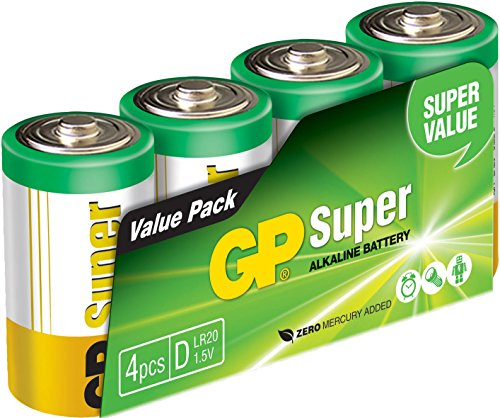 GP Battery 03013AS4 Super Alkaline D Mono 4er Pack