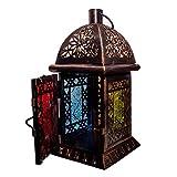 Orientalische Laterne Windlicht Balkon Garten Deko Lampe Marokko Orient Dekoration Weihnachtsdeko Adventsdeko (Einzeln - Design 2) - 2
