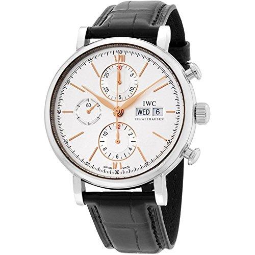 iwc-homme-42mm-bracelet-cuir-boitier-acier-inoxydable-quartz-montre-iw391022