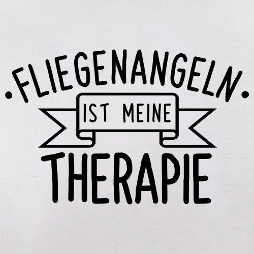 Fliegenangeln ist meine Therapie - Herren T-Shirt - 13 Farben Weiß
