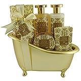 Gloss! Coffret Baignoire de Bain Luxe White Floral et Musk 5 Pièces, Coffret Cadeau-Coffret de bain