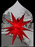 Pagoda beleuchteter Weihnachtsstern Adventsstern Außenstern Faltstern 40 cm (Rot)