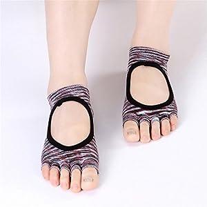 BSD Yoga-Socken aus Baumwolle Halfter Rutschfeste Fingerabdruck-Baumwolle Vier Jahreszeiten