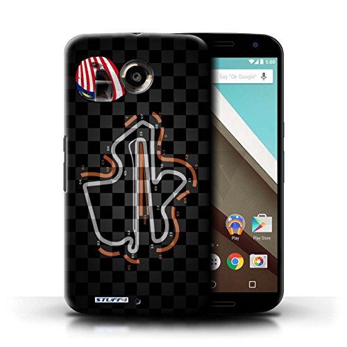 Kobalt® Imprimé Etui / Coque pour Motorola Nexus 6 / Espagne/Catalogne conception / Série 2014 F1 Piste Malaisie/KualaLumpur
