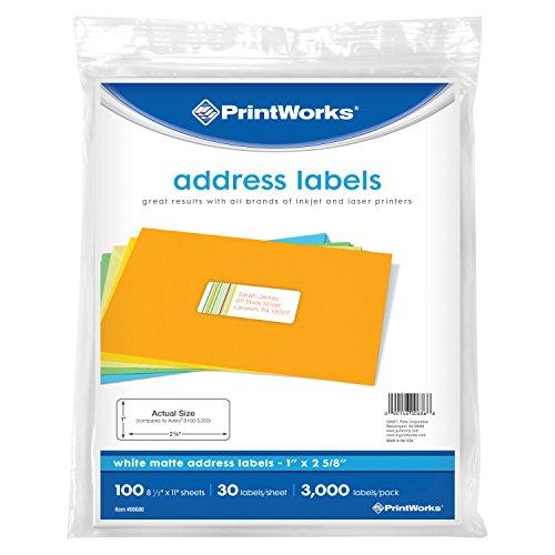 Printworks weiß Adresse Label (00686)