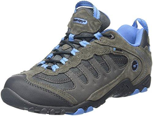 Hi-Tec Penrith Low Waterproof, Zapatillas de Senderismo para Mujer, Gris (Grey/Charcoal/Cornflower), 39 EU