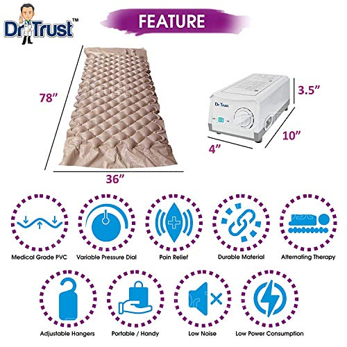 Dr Trust Air Mattress Anti Decubitus Air Pump and Bubble Mattress (Brown) Image 3