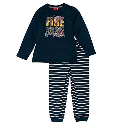 SALT AND PEPPER Jungen Zweiteiliger Schlafanzug Pyjama Feuerwehr, Blau (Crown Blue 463), 116 (Cooler Pyjama)