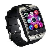 INDI Q18 Smart Watch Bluetooth Smartwatch mit Kamera SIM Slot TF Karte Smart Uhren für Android für Männer Handys Samsung LG Sony HTC Google Pixel Telefon (Silber)