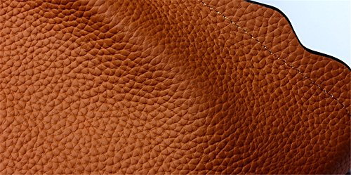 Xinmaoyuan Damen Lederhandtaschen vertikalen Abschnitt der Kurve mit der Kante der großen Kapazität Vieh Tote Bag Handtasche Schulter, Schwarz Gelb