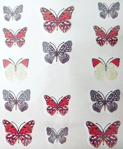 Nail art manucure stickers ongles scrapbooking: 14 décalcomanies motifs papillons