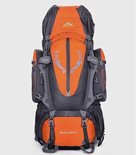 BM Borsa grande capacità 80L litro outdoor zaino zaino escursionismo campeggio pacchetto di alpinismo , blue Orange