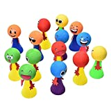 #10: Silver coin traders Smiley Emoji Jumpimg Elf Fly Toy Birthday Party Return Gift for Kids - Pack of 12 Assorted Colours with Led Ballons (Pack of 5)