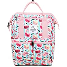 HotStyle DISA Mochila Floral Vintage Mujer para Notebook 14-inch (44x27x17cm)