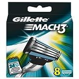Gillette Lot de 8 lames de rasoir Mach 3
