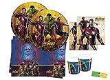 DECORATA PARTY Kit n3 Coordinato Festa Avengers Infinity War addobbi Compleanno