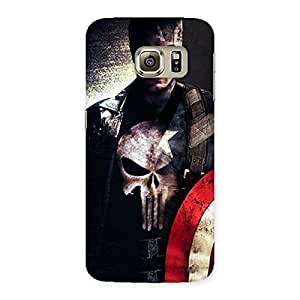 Luxirious Punish Sheild Multicolor Back Case Cover for Samsung Galaxy S6 Edge Plus