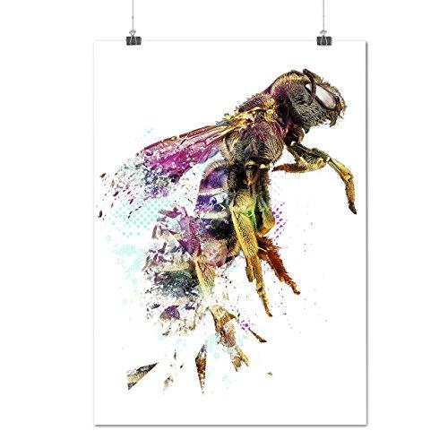 abeille-bete-impression-miel-matte-glace-affiche-a2-60cm-x-42cm-wellcoda