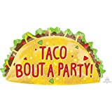 Anagram 33 Taco Party Super Shape Foil Balloon, Red