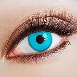 aricona Farblinsen blaue Kontaktlinsen farbig Halloween Linsen / Cosplay Make-up