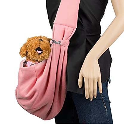 CueCue Pet Sling Pet Carrier with Safety Collar Hook, Blue 5