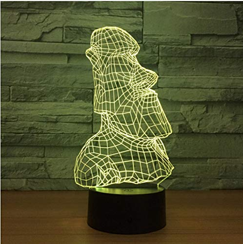 Creative Sleeps 3D Night Light Atmósfera Usb Lámpara Shenzhen Factory  Remote Touch Switch Lovely 7 Cambio de color Lámpara 3D