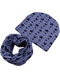 Sanwood® Kleinkinder Unisex Kids Soft Stretch Wärmer Cap + Schal Geschenk-Set