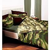 Camouflage Bettbezug 1Platz und Halb Reversible