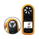 Jiusion - Anemómetro digital de velocidad del viento con pantalla LCD, medidor de mano inalámbrico, medidor de flujo de aire, medidor de velocidad, medidor de termómetro para pesca de windsurf, kite, vela, surf, pesca