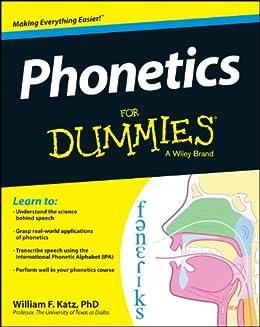 Phonetics For Dummies par [Katz, William F.]