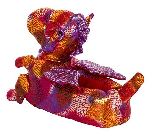 Unisex Tierhausschuhe aus Plüsch - Kinder & Erwachsene Dragon - Multi Colour