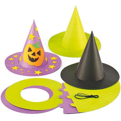 Bunte Zauberhüte zu Halloween für Kinder zum Basteln und Gestalten (3 (Baker Kostüme Halloween)
