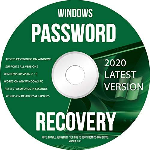 Ralix Windows Password Recovery DVD - unterstützt alle Versionen Windows XP, Vista, 7, 10 Reset Passwörter in Sekunden - 32/64 Bit (neueste Version)