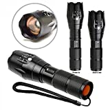 #4: CLICKS(TM) Brightest LED Tactical Flashlight,10Watt,1000Lumens, Zoomable Adjustable Focus, 5 Modes,Outdoor Torch ( 3 x AAA Batteries Included )