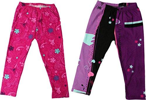 Disney Violetta Leggings mit Motiv - 2er Pack - Hi Violetta - Pink/Lila/Mehrfarbig