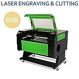 Macchina per incisione laser con tubo CO2 da 80 W, 700x 500mm