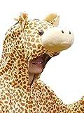J24 Größe XL Giraffe Kostüm, Für hoch gewachsene Männer und Frauen!, Giraffenkostüm Erwachsen Kostüme Karneval Fasching - 2