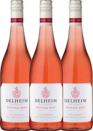 3er Paket - Delheim Pinotage Rosé 2018 - Delheim | Roséwein | südafrikanischer Sommerwein aus...