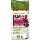 Ethiquable café grains colombie bio 500g - Livraison Gratuite pour les commandes en France - Prix Par Unité