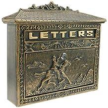 Nostalgie Briefkasten Pferd Wandbriefkasten Gusseisen Postkasten Antik-stil Briefkästen
