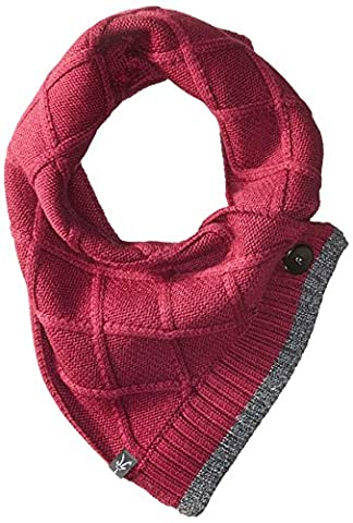Ibex Outdoor Clothing Women's Button Scarf, One Size, Winter Cherry