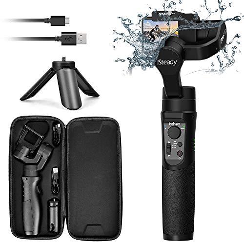 Hohem iSteady Pro 2, 3-Achsen spritzwassergeschützter kardanischer Stabilisator für GoPro, DJI OSMO-Action Kamera, GoPro Kardan mit Stativ, APP Steuerung für Gopro Hero 7, SJCAM, YI, Sony RX0