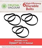 6Dyson Durée de vie durable Ceinture de Lot de Lot de 6parfaitement conçu pour aspirateurs Dyson DC17Droit; Comparé à la Dyson Aspirateur supplémentaire # 911710–01