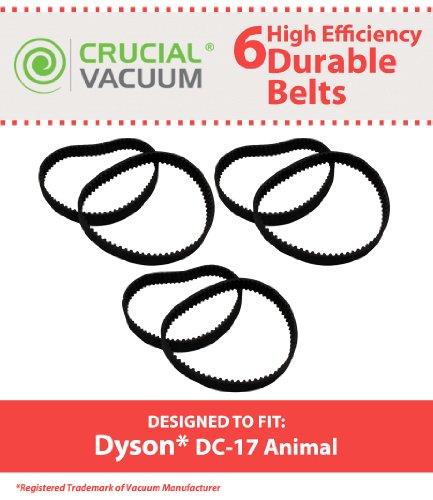 6Dyson Lebensdauer Haltbar Gürtel von Lot von 6Stück perfekt geeignet für Dyson Staubsauger DC17Recht; im Vergleich zu die Dyson Staubsauger zusätzliche # 911710–01