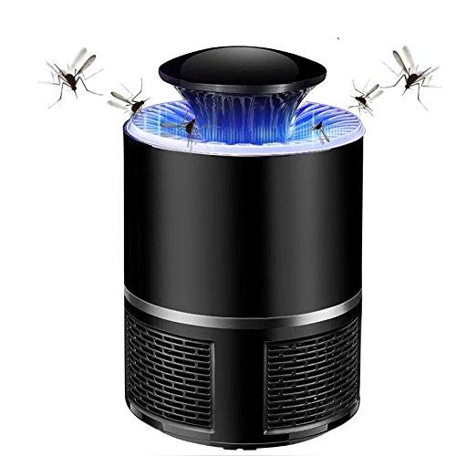 Apark Moskito Killer Insektenvernichter elektrisch UV LED Insektenlampe Mückenbekämpfung Lampe Mückenfalle durch Reine physikalische Mückenbekämpfung für 40m², für Innen und Im Freien - Schwarz (Enthält Reinigungsbürste) (Moskito-killer)